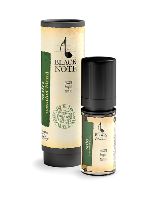 BlackNote naturally extracted tobacco ejuice, the best tabacco e liquid solo menthol from black note! delivery buy uk, united kingdom, ireland, quartet, solo, legato, prelude, sonata, forte, blacknote uk, notebook.